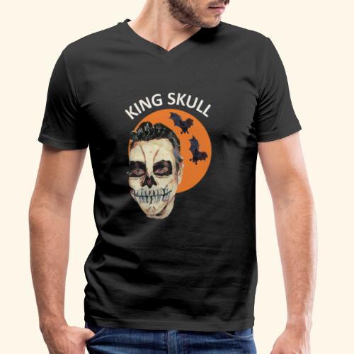 Totenkopf Nahtoderfahrung Mystik - Männer Bio-T-Shirt mit V-Ausschnitt von Stanley & Stella