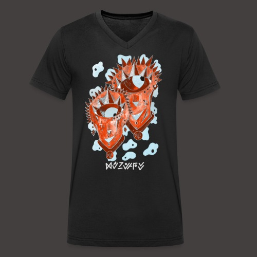 Gémeaux Négutif - T-shirt bio col V Stanley & Stella Homme