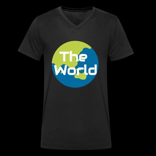 The World Earth - Økologisk Stanley & Stella T-shirt med V-udskæring til herrer