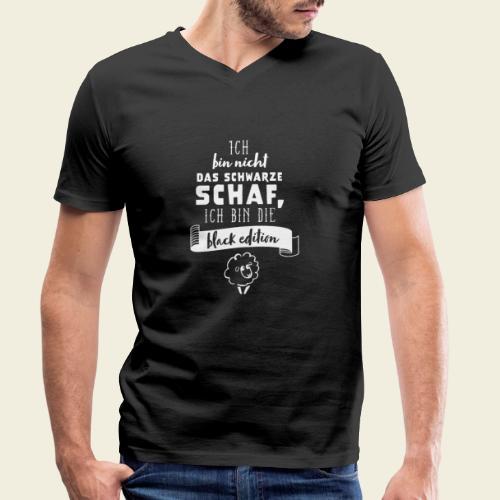 Schwarzes Schaf - black edition - Männer Bio-T-Shirt mit V-Ausschnitt von Stanley & Stella