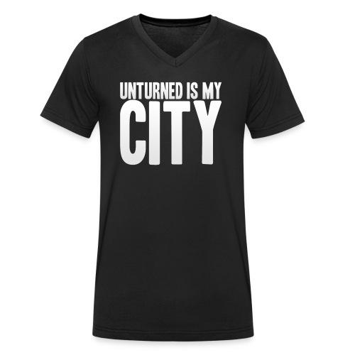 Unturned is my city - Men's Organic V-Neck T-Shirt by Stanley & Stella