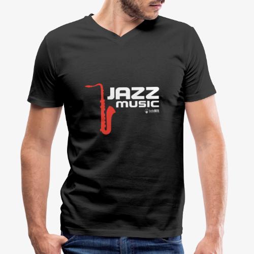 Jazz 02 - Camiseta ecológica hombre con cuello de pico de Stanley & Stella