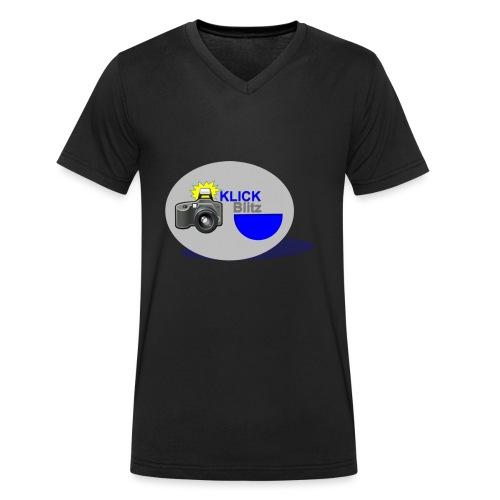 Klick Blitz - Männer Bio-T-Shirt mit V-Ausschnitt von Stanley & Stella