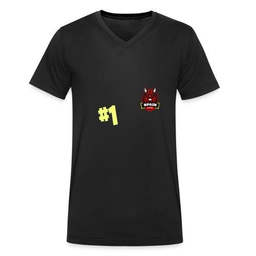 Top 1 - Camiseta ecológica hombre con cuello de pico de Stanley & Stella