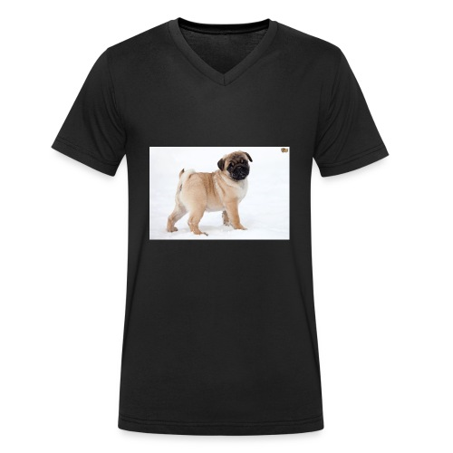 walker family pug merch - Men's Organic V-Neck T-Shirt by Stanley & Stella