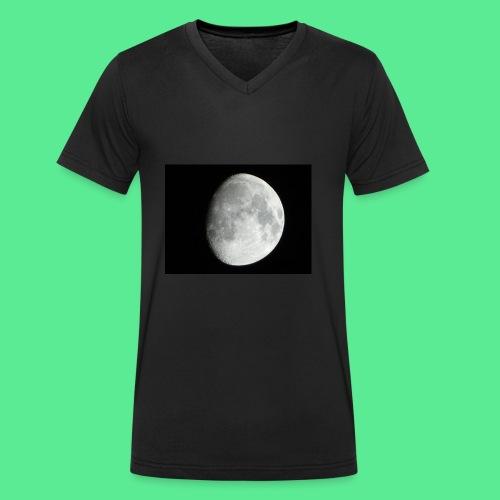 The moon - Men's Organic V-Neck T-Shirt by Stanley & Stella