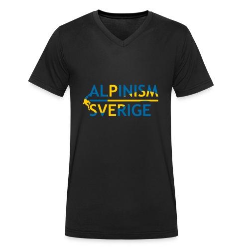 Alpinism Sverige - Ekologisk T-shirt med V-ringning herr från Stanley & Stella