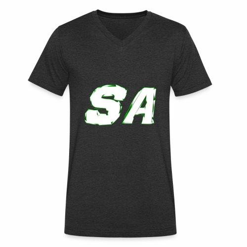 Vit SA Logo - Ekologisk T-shirt med V-ringning herr från Stanley & Stella