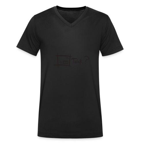 Think Outside The Box - Men's Organic V-Neck T-Shirt by Stanley & Stella