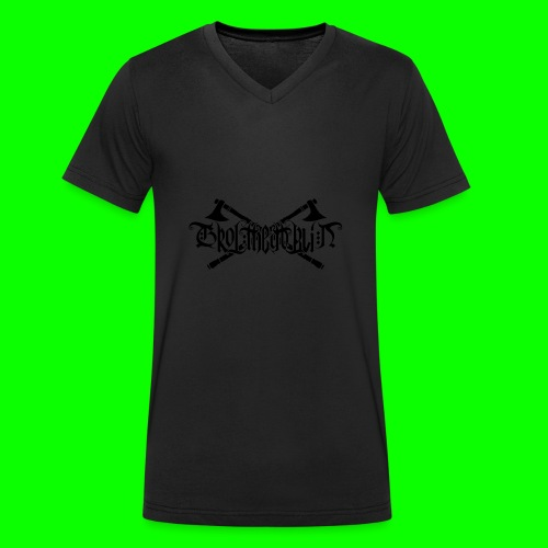 Grol Logo - Men's Organic V-Neck T-Shirt by Stanley & Stella