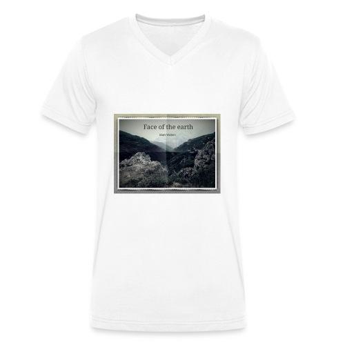 face of the earth - Mannen bio T-shirt met V-hals van Stanley & Stella