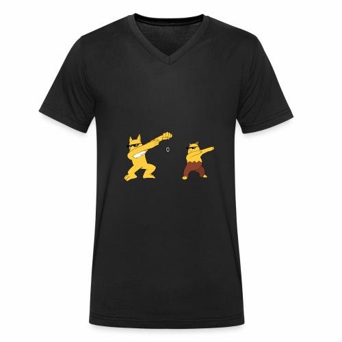 Saffron city gym - Men's Organic V-Neck T-Shirt by Stanley & Stella