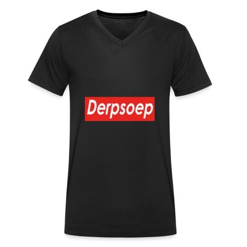 Derpsoep Sup-reme parodie - Mannen bio T-shirt met V-hals van Stanley & Stella