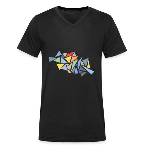 Modern Triangles - Men's Organic V-Neck T-Shirt by Stanley & Stella