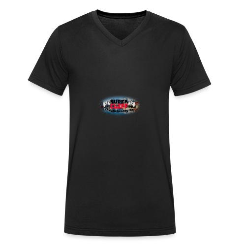 Kongen av Lofoten Med bakgrunn - Økologisk T-skjorte med V-hals for menn fra Stanley & Stella