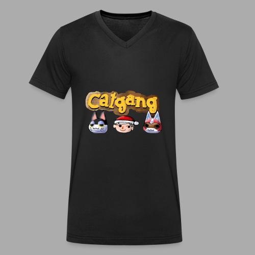 Animal Crossing CatGang - Männer Bio-T-Shirt mit V-Ausschnitt von Stanley & Stella