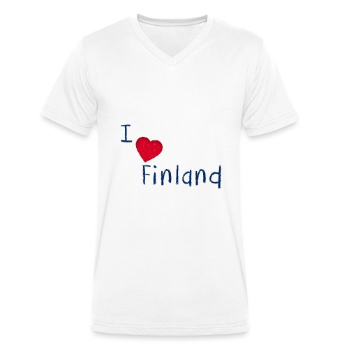 I Love Finland - Stanley & Stellan miesten luomupikeepaita