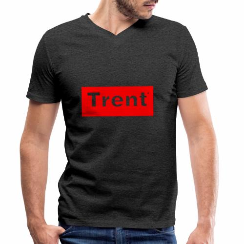 TRENT classic red block - Men's Organic V-Neck T-Shirt by Stanley & Stella