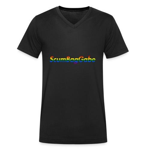 ScumBagGabe Multi Logo XL - Men's Organic V-Neck T-Shirt by Stanley & Stella