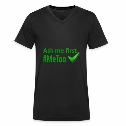 askmefirst logo - Men's Organic V-Neck T-Shirt by Stanley & Stella