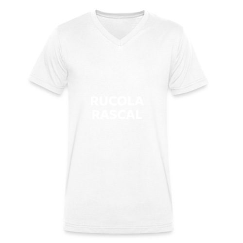 Rucola Rascal Night Mode - Men's Organic V-Neck T-Shirt by Stanley & Stella
