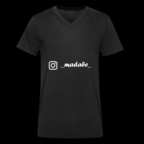 madabe instagram weiss - Männer Bio-T-Shirt mit V-Ausschnitt von Stanley & Stella