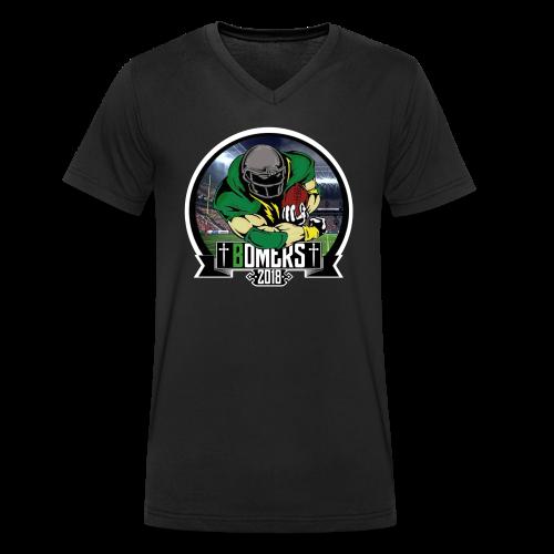 Bomers logo 2018 - Økologisk T-skjorte med V-hals for menn fra Stanley & Stella