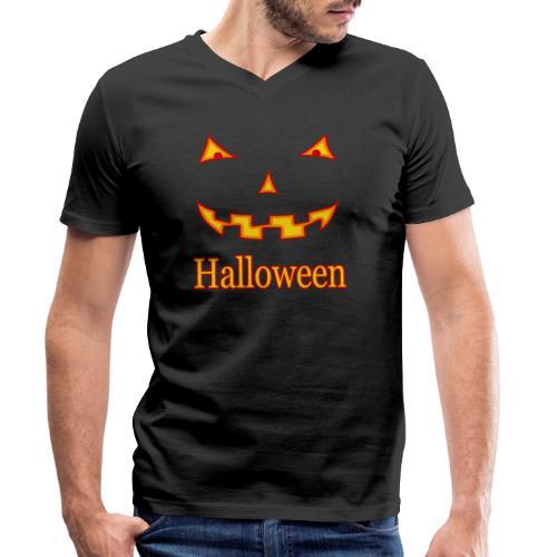 Halloween Gruselmaske - Männer Bio-T-Shirt mit V-Ausschnitt von Stanley & Stella