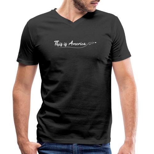 This is America - Gun violence - T-shirt bio col V Stanley & Stella Homme