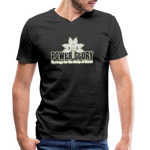Power and Glory Logo glow - Men's Organic V-Neck T-Shirt by Stanley & Stella