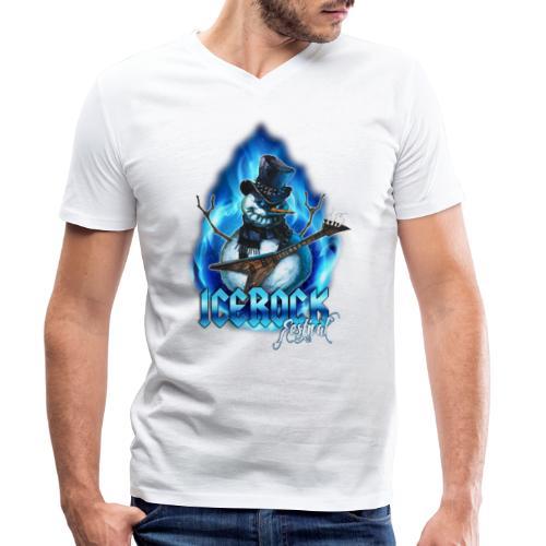 Snowman Evil - Männer Bio-T-Shirt mit V-Ausschnitt von Stanley & Stella
