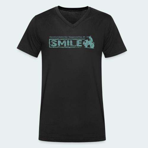SMILE-Shirt 2018 - Männer Bio-T-Shirt mit V-Ausschnitt von Stanley & Stella