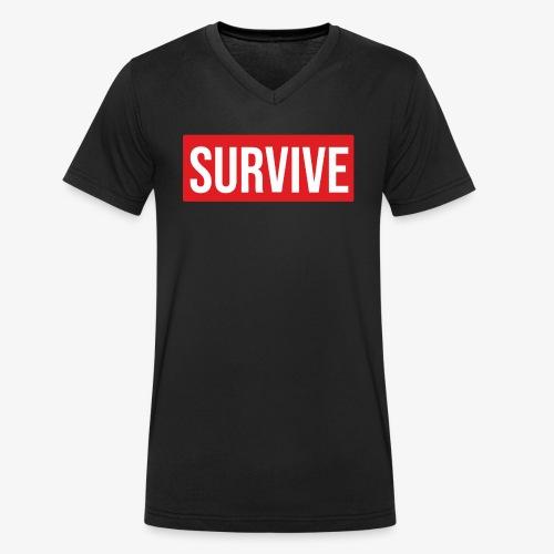 Camiseta Survive - Camiseta ecológica hombre con cuello de pico de Stanley & Stella
