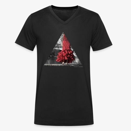 Flamenco Fusion - Camiseta ecológica hombre con cuello de pico de Stanley & Stella