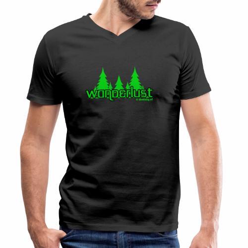 Wanderlust - Mannen bio T-shirt met V-hals van Stanley & Stella