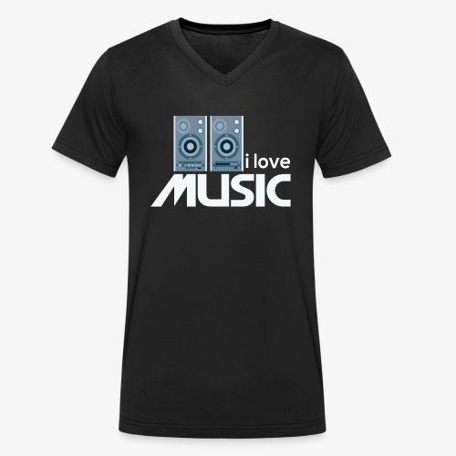 Amo la música 02 - Camiseta ecológica hombre con cuello de pico de Stanley & Stella