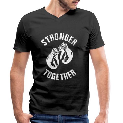 Stronger Together - Männer Bio-T-Shirt mit V-Ausschnitt von Stanley & Stella