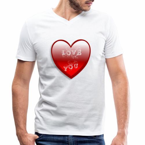 Love You - Männer Bio-T-Shirt mit V-Ausschnitt von Stanley & Stella