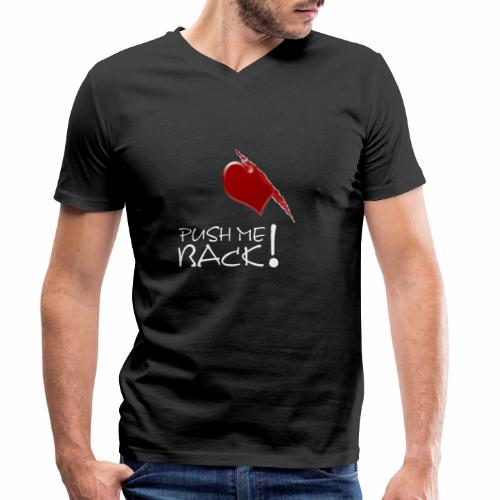 Herzschmerz, Push Me Back, Fake Wunde, Liebe - Männer Bio-T-Shirt mit V-Ausschnitt von Stanley & Stella