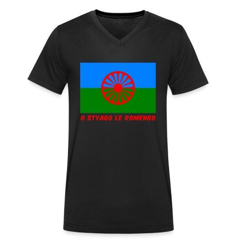 o styago le romengo flag of romani people t-shirt - T-shirt ecologica da uomo con scollo a V di Stanley & Stella