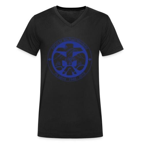 Logo Jubi Rund Blau - Männer Bio-T-Shirt mit V-Ausschnitt von Stanley & Stella