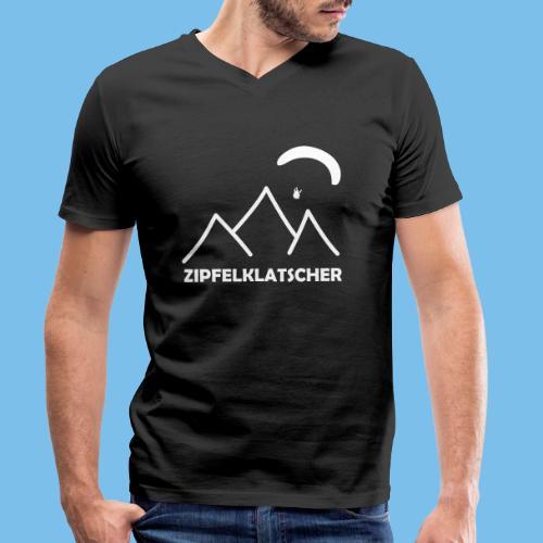 gleitschirmflieger paragliding geschenk T-shirt - Männer Bio-T-Shirt mit V-Ausschnitt von Stanley & Stella