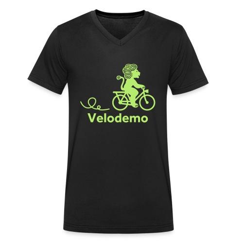 Züri-Leu mit Text - Männer Bio-T-Shirt mit V-Ausschnitt von Stanley & Stella