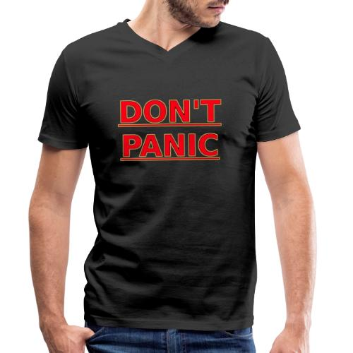 DON T PANIC - Men's Organic V-Neck T-Shirt by Stanley & Stella