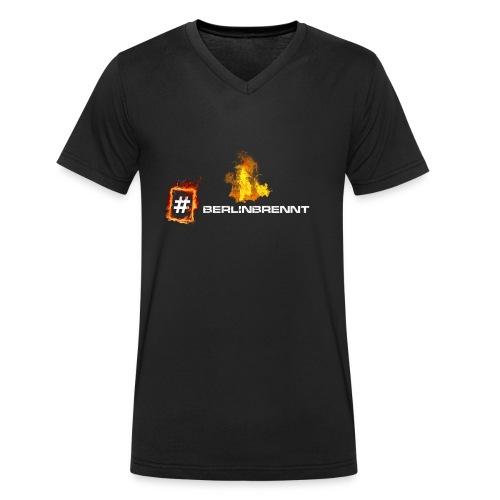 #berlinbrennt - Männer Bio-T-Shirt mit V-Ausschnitt von Stanley & Stella