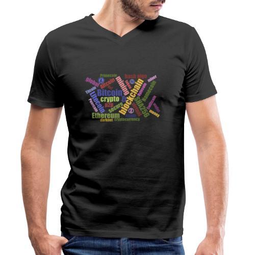 Crypto Currency wordcloud [DFSPR] - Männer Bio-T-Shirt mit V-Ausschnitt von Stanley & Stella