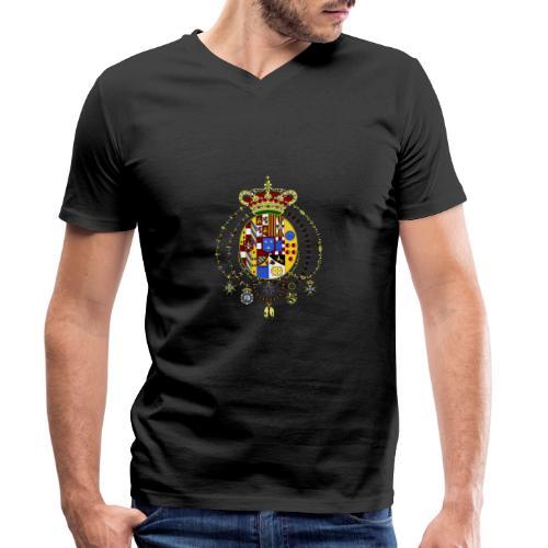 regno delle due sicilie - T-shirt ecologica da uomo con scollo a V di Stanley & Stella