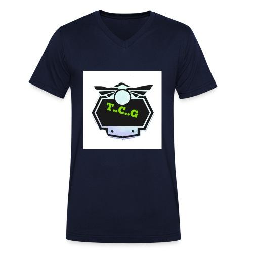 Cool gamer logo - Men's Organic V-Neck T-Shirt by Stanley & Stella
