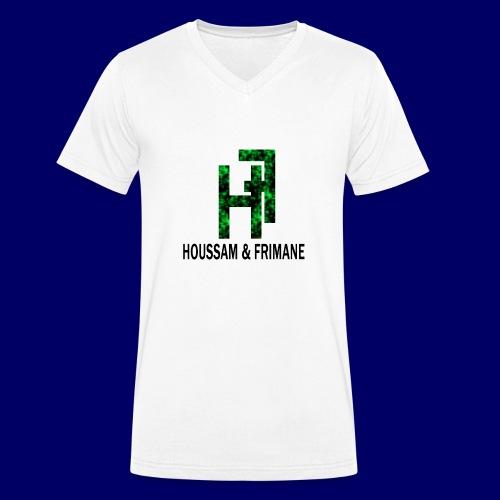 h&f - T-shirt ecologica da uomo con scollo a V di Stanley & Stella