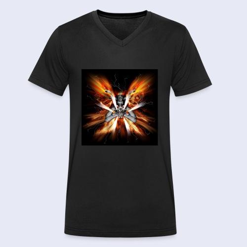 Skullhead Nitro - Männer Bio-T-Shirt mit V-Ausschnitt von Stanley & Stella